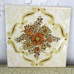 details zu vintage ceramic tile italy italian marked semigres trivet coaster wall tile
