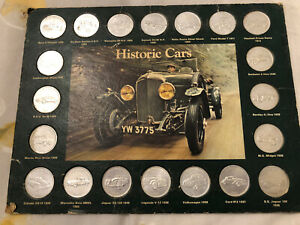 Historic Cars from Shell Celebration Coins 1970's. Vintage collection