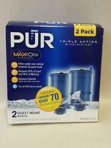 details about pur maxion water faucet filter replacement rf 9999 mineral clear 2 filter box