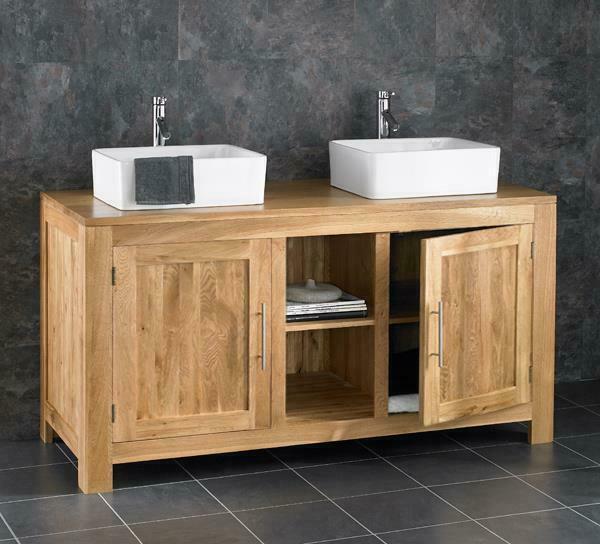 double vanity unit 1300mm oak cabinet wide basin bathroom freestanding two sinks for sale online ebay