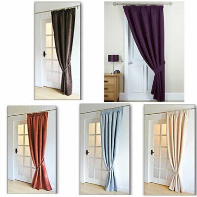 tessa satin single door curtain 46x84 117x213cm now buy 1 get one free ebay