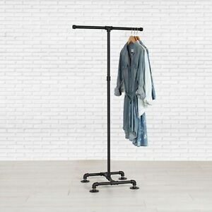 details about industrial pipe clothing rack 2 way by william robert s vintage