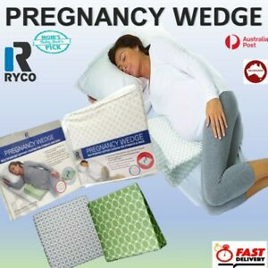 details about best ryco pregnancy wedge support to spine belly relief sleep maternity pillow