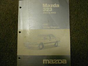 1990 Mazda 323 2wd 2WD 4wd WIRING Diagram Electrical
