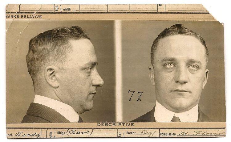1915 mug shot photo howard leigh kansas city mo crime