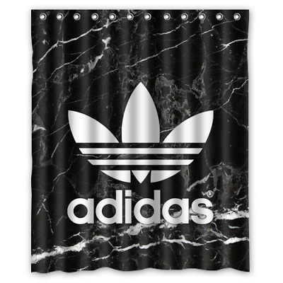 famous adidas black marble logo custom print shower curtain bathroom waterproof ebay
