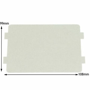 details about sharp genuine microwave waveguide cover board panel splash piece 108 x 99 mm