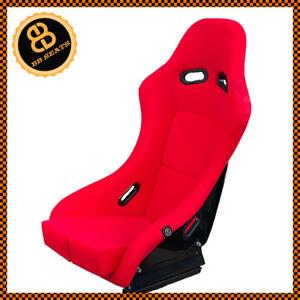 details sur bb5 rouge grande taille fixe en fibre de verre racing siege baquet side mounts patins afficher le titre d origine
