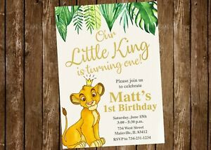 details about lion king birthday invitation simba lion king party invitation