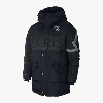 nike psg x air jordan down parka winter jacket paris saint germain men s small s ebay