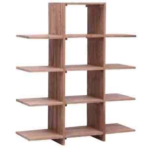 details sur vidaxl bois de teck massif bibliotheque armoire meuble rangement etagere livre