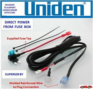 UNIDEN Radar Detector Direct Power Cord From Fuse Box