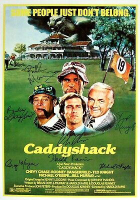 caddyshack movie poster signed by 7 cast members excellent condition replica ebay