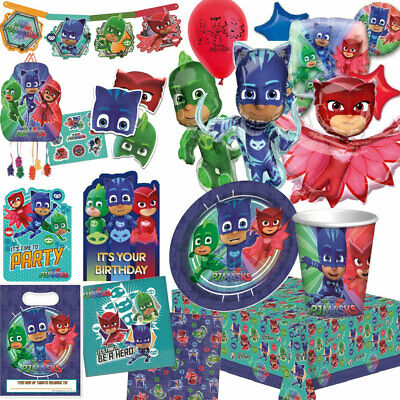 Pj Masks Birthday Party Tableware Balloons Tablecover Supplies Decorations Bags Ebay