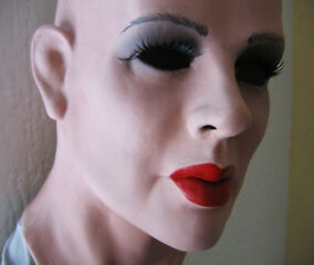 Image Is Loading Latex Mask Kate Lashes Real Female Rubber Sissy