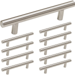 3 5 Cabinet Handles Brushed Nickel Drawer Pulls Stainless Steel 10 Pack Hd201sn For Sale Online