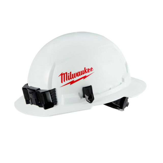 Milwaukee White Type 1 Class E Full Brim Hard Hat Safety Protection Equipment For Sale Online Ebay