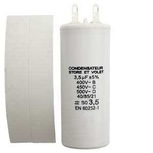 Condensateur 3 5 Uf 3 5 µf Pour Moteur Somfy Ou Simu De Volet Roulant Ou Store Ebay