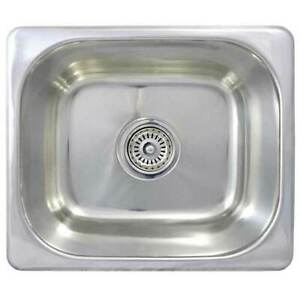 details about new bar kitchen sink small stainless steel single basin caravan se3 355x305x130
