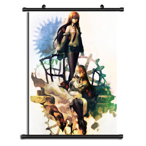 details about steins gate anime wall art home decoration scroll poster