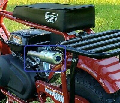 exhaust with muffler for coleman ct200u 196cc 6 5hp gas mini bike ebay