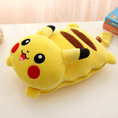 new soft pokemon pikachu bed throw pillow blanket 2 in 1 gift for baby ebay