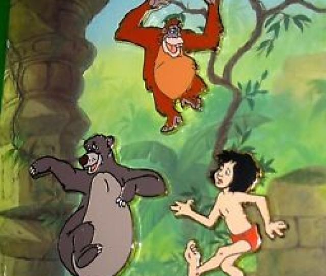 Image Is Loading Retired Disney Pin Set Jungle Book Mowgli Baloo