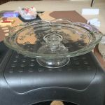 Vintage Glass Pedestal Cake Plate Display Stand Footed 9 Wide 4 Tall Lipped For Sale Online