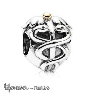 Pandora Genuine ALE 925 Silver Nurse Lifesaver Charm