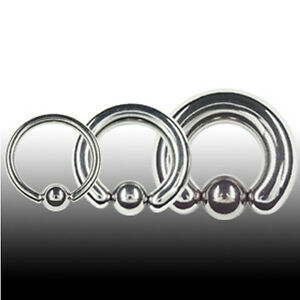 TITAN 4mm Klemmkugel Ring Ohr Septum Intim Piercing Dicker Ring BCR Klemmring