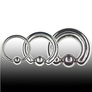 TITAN 4mm Klemmkugel Ring Ohr Septum Intim Piercing Dicker Ring BCR Klemmring