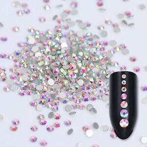 1440pcs Nail Rhinestones Glitte Crystal Flatback 3D Nail Art Decoration Manicure