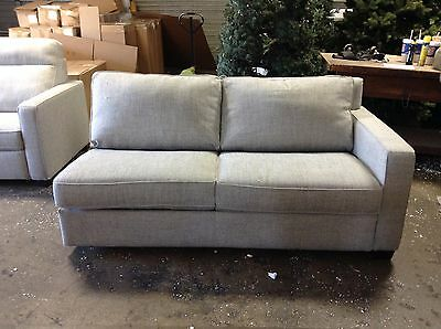 pottery barn west elm henry sectional right arm sofa sleeper bed gravel twill ebay