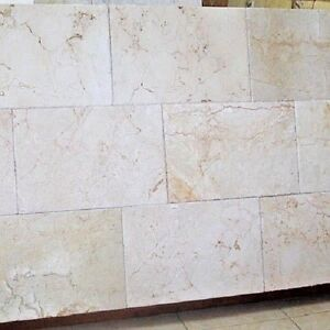 details about crema marfil antique brushed chiseled marble tile 16 x 24 x 3 4 160 sq ft