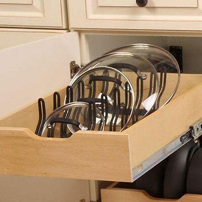 kitchen pot pan lid holder cabinet pull out drawer organizer cover rack shelf ebay