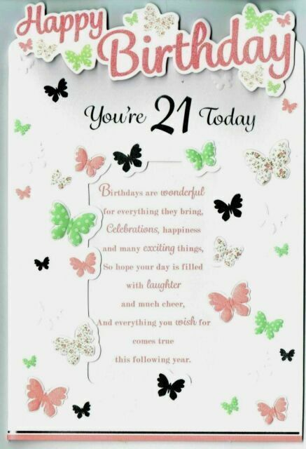 Happy 21st Birthday Granddaughter You Re 21 Today 3d Greetings Card Girl Fe39558 For Sale Online Ebay