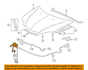 details about acura honda oem 02 06 rsx hood lock latch 74120s6m506