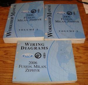2006 Ford Fusion Mercury Milan Lincoln Zephyr Shop Service Manual Vol 1 2 Wiring | eBay