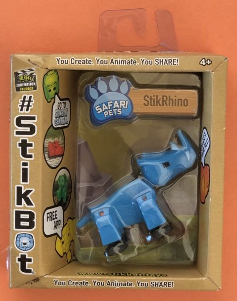 StikBot StikRhino Blue - with FREE APP - iOS & Android - Youtube - BRAND NEW! 10