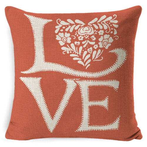 happy valentine s day pillow cases cushion cover red heart love home decoration