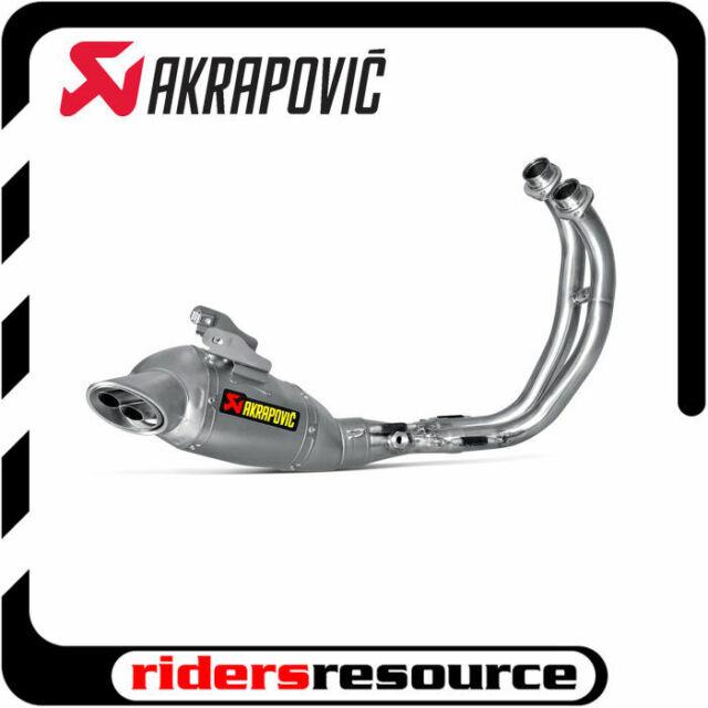 akrapovic s y7r1 haft racing line full system exhaust titanium muffler