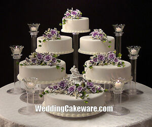 6 TIER CASCADING WEDDING CAKE STAND STANDS   6 TIER CANDLE STAND SET     Image is loading 6 TIER CASCADING WEDDING CAKE STAND STANDS 6