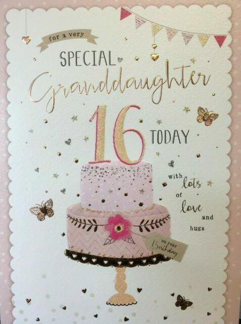 Granddaughter Happy 16th Birthday Card Cake Design For Sale Online Ebay