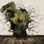 3D Big Hulk Break Out Wall Wallpaper Full Wall Mural Photo Printed     Image is loading 3D Big Hulk Break Out Wall Wallpaper Full