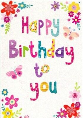 Open Female Birthday Card Happy Birthday To You By Greetings Free P P 5052738585347 Ebay