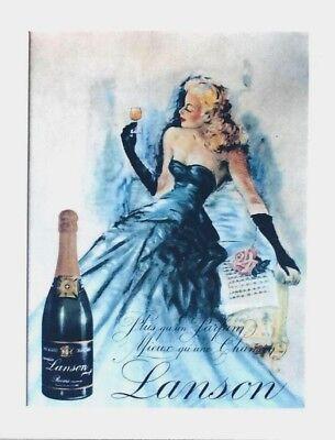 original vintage poster lanson champagne france lady c 1970 ebay