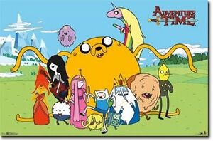 details about cartoon network adventure time group poster new 34x22