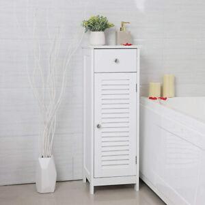 Meuble Salle De Bain Wlens 32 Cm Avec Tiroir Blanc Rustique Ebay