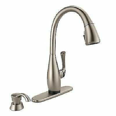 delta dominic touch2o 19940tz spsd dst pull down kitchen faucet stainless for sale online ebay