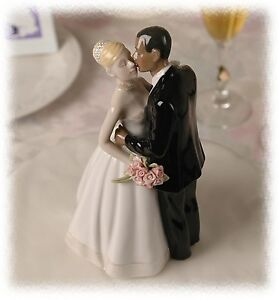 Interracial Porcelain Wedding Cake Topper African American Groom     Image is loading Interracial Porcelain Wedding Cake Topper African American  Groom